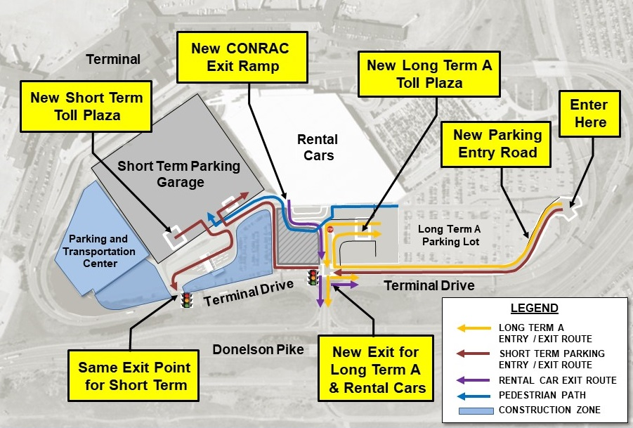 Parking and Traffic Advisory: Changes Affecting Long Term A, Short